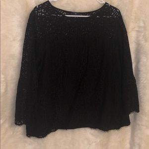 Gap black lace top